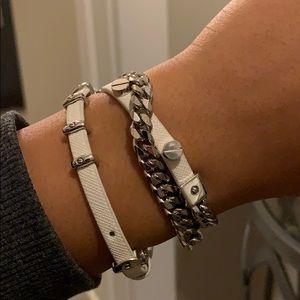 White Henri Bendel Bracelet